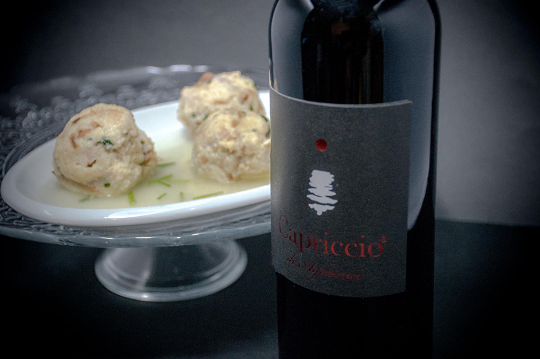 I canederli e il Capriccio di Aglianico: un piatto trentino dal retrogusto invernale ed un vino campano ⛰️🍷